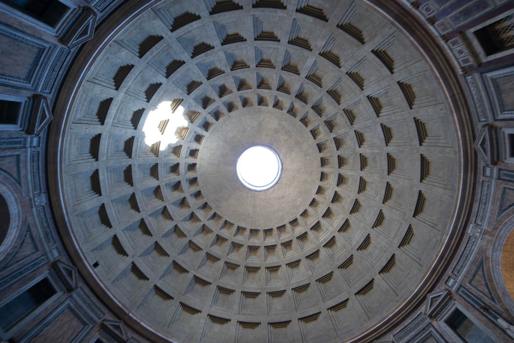 Pantheon Rome ceiling