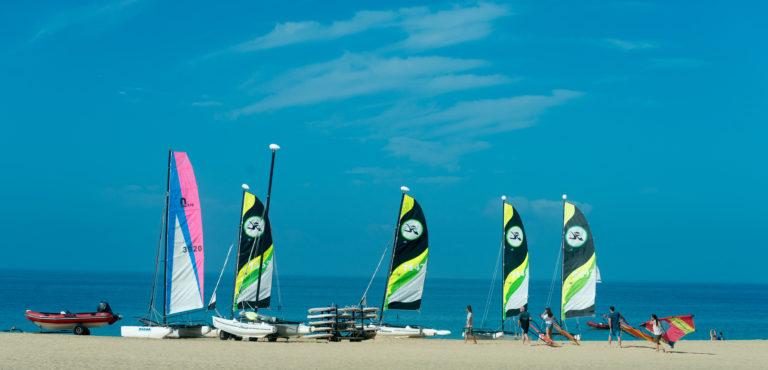 Catamarans on Playa Matorral