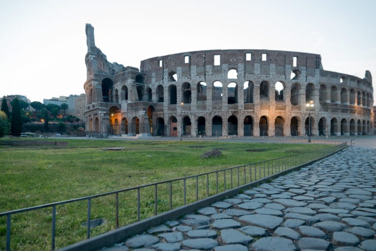 The Colosseum in early morning light