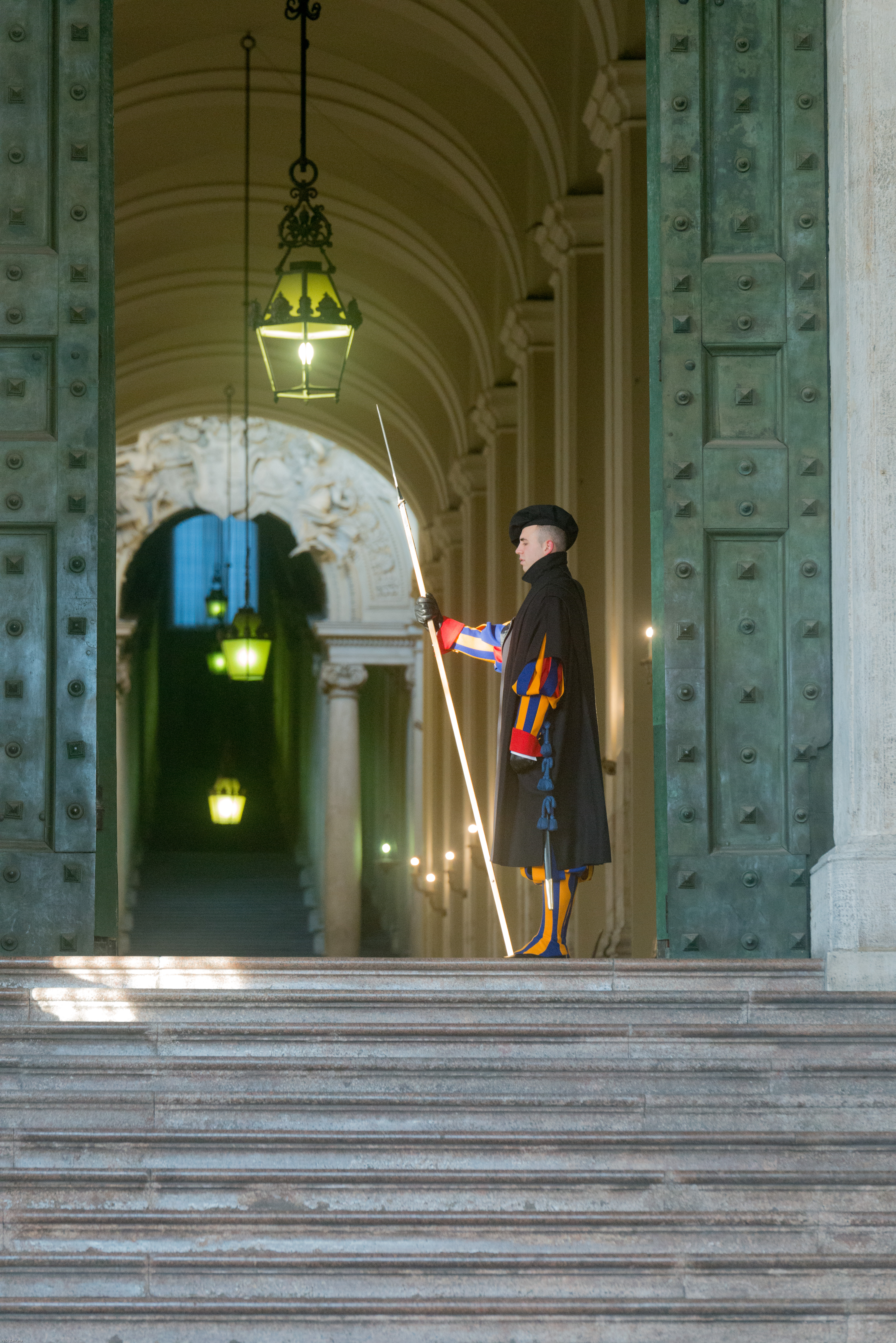 Swiss guard at his post Planning for Rome and booking it's sites