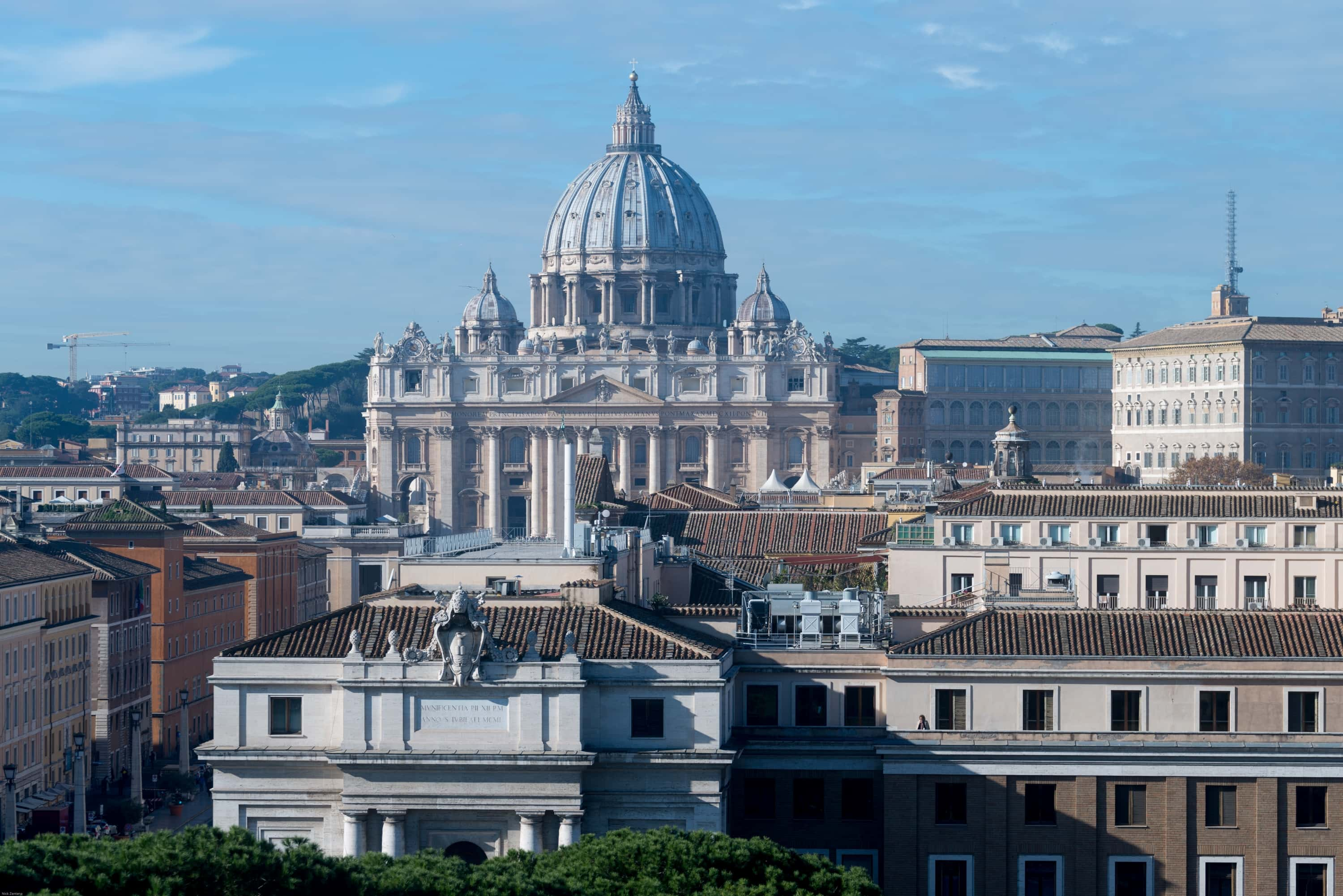 St. Peter's Basilica Rome from Castel Sant Angelo