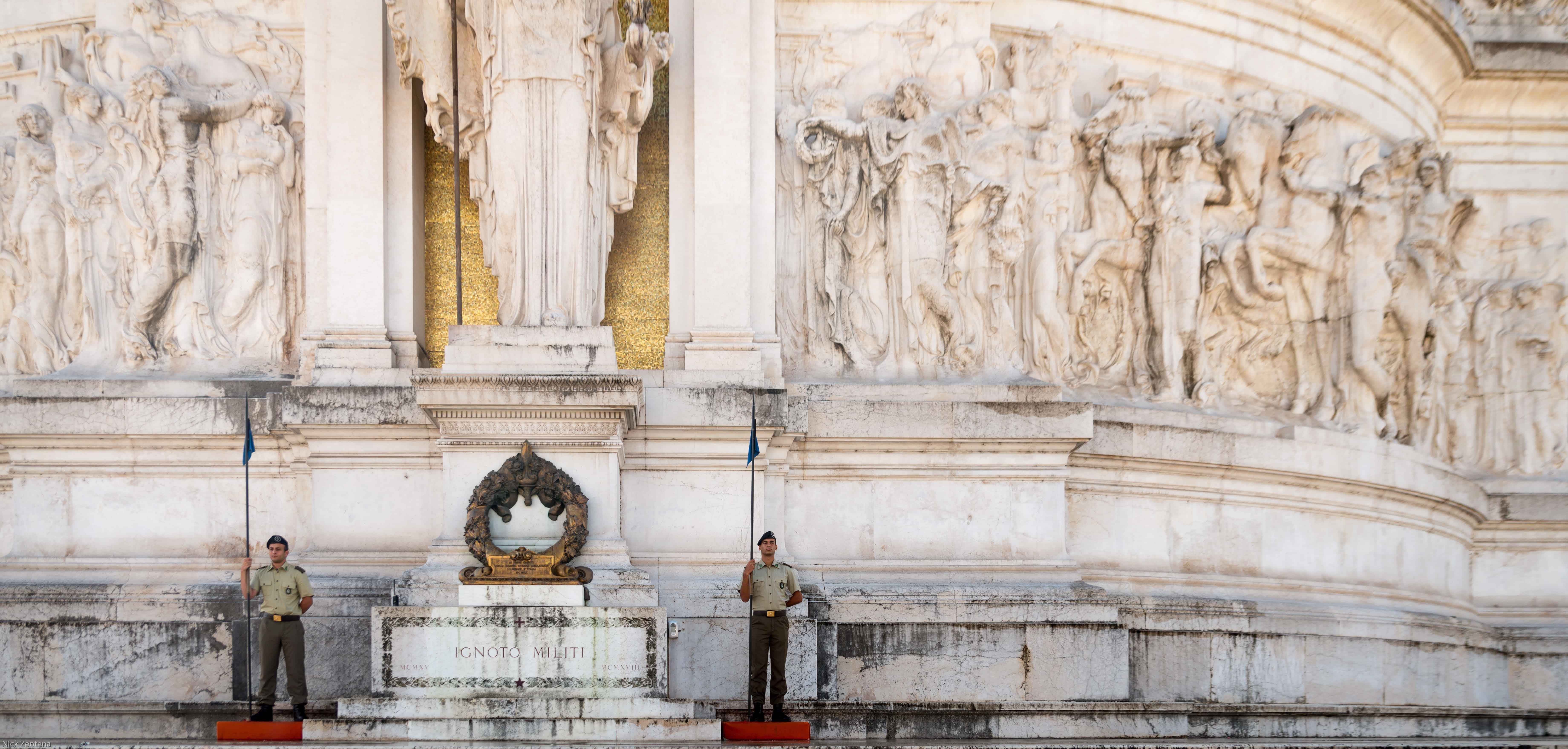 Changing of the honor guard Altare della Patria Rome Italy