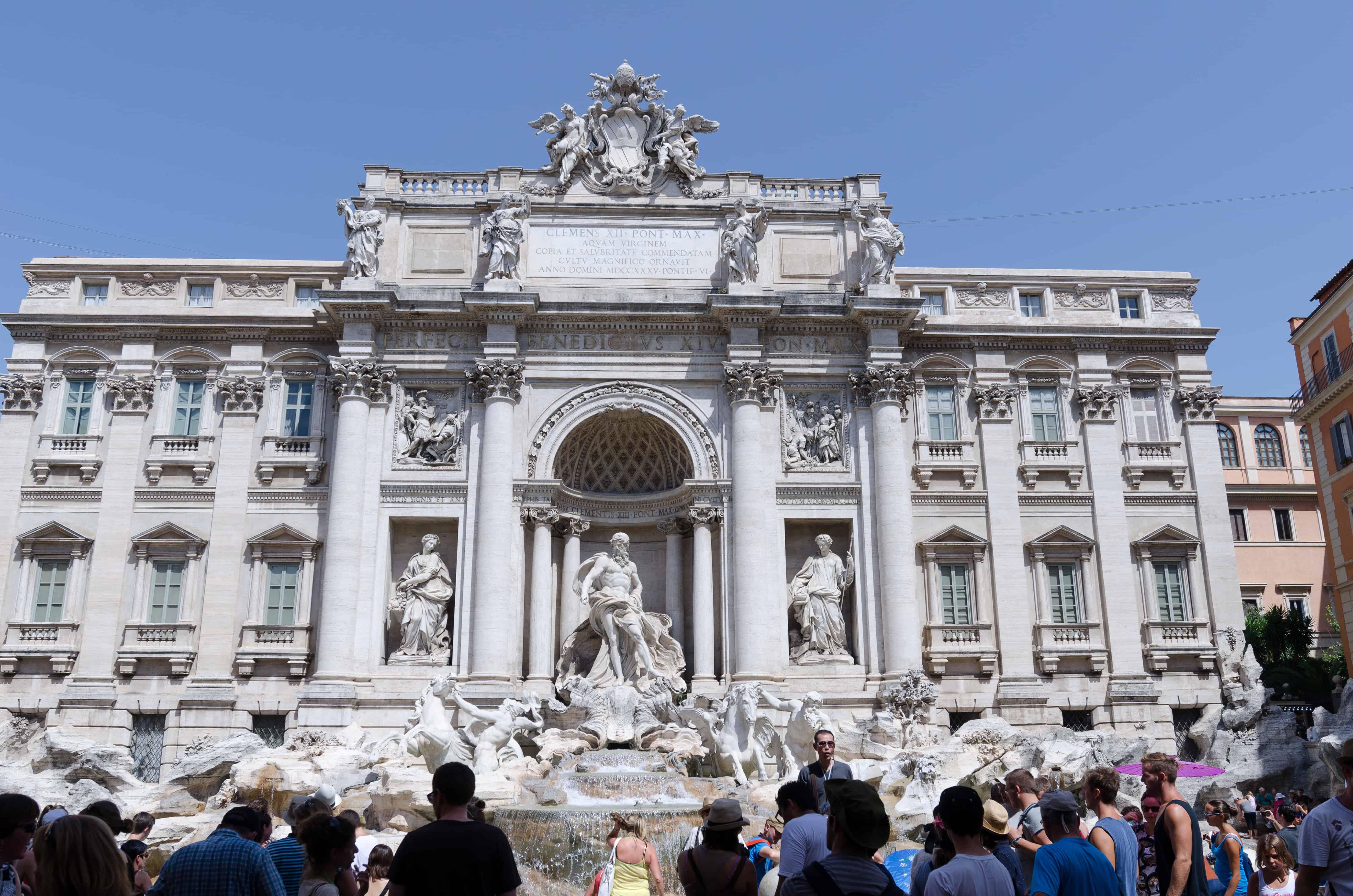 ten photographs of Italy Trevi fountain Rome Italy