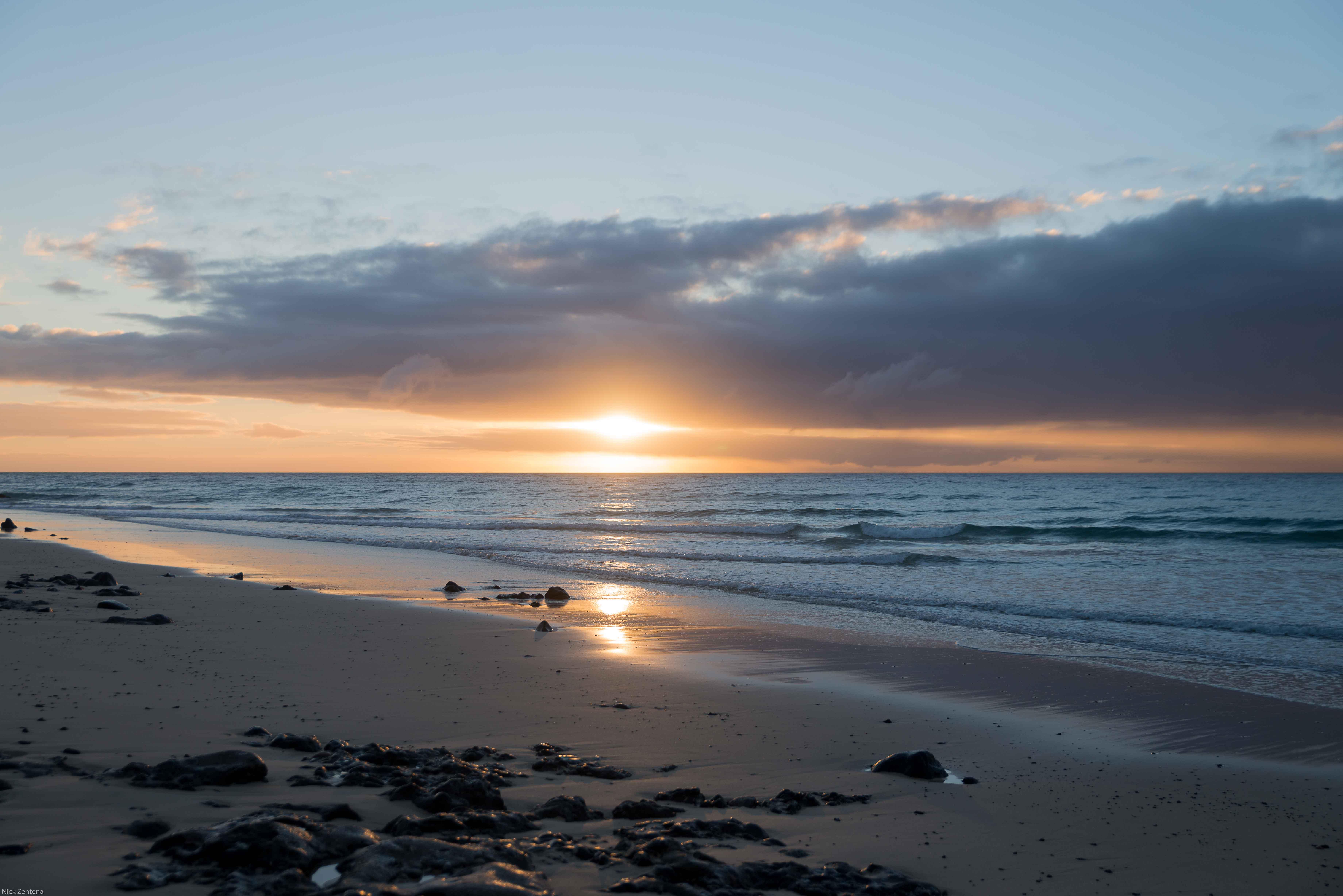 Sunrise over Playa del Matorral Jandia Fuerteventura Spain