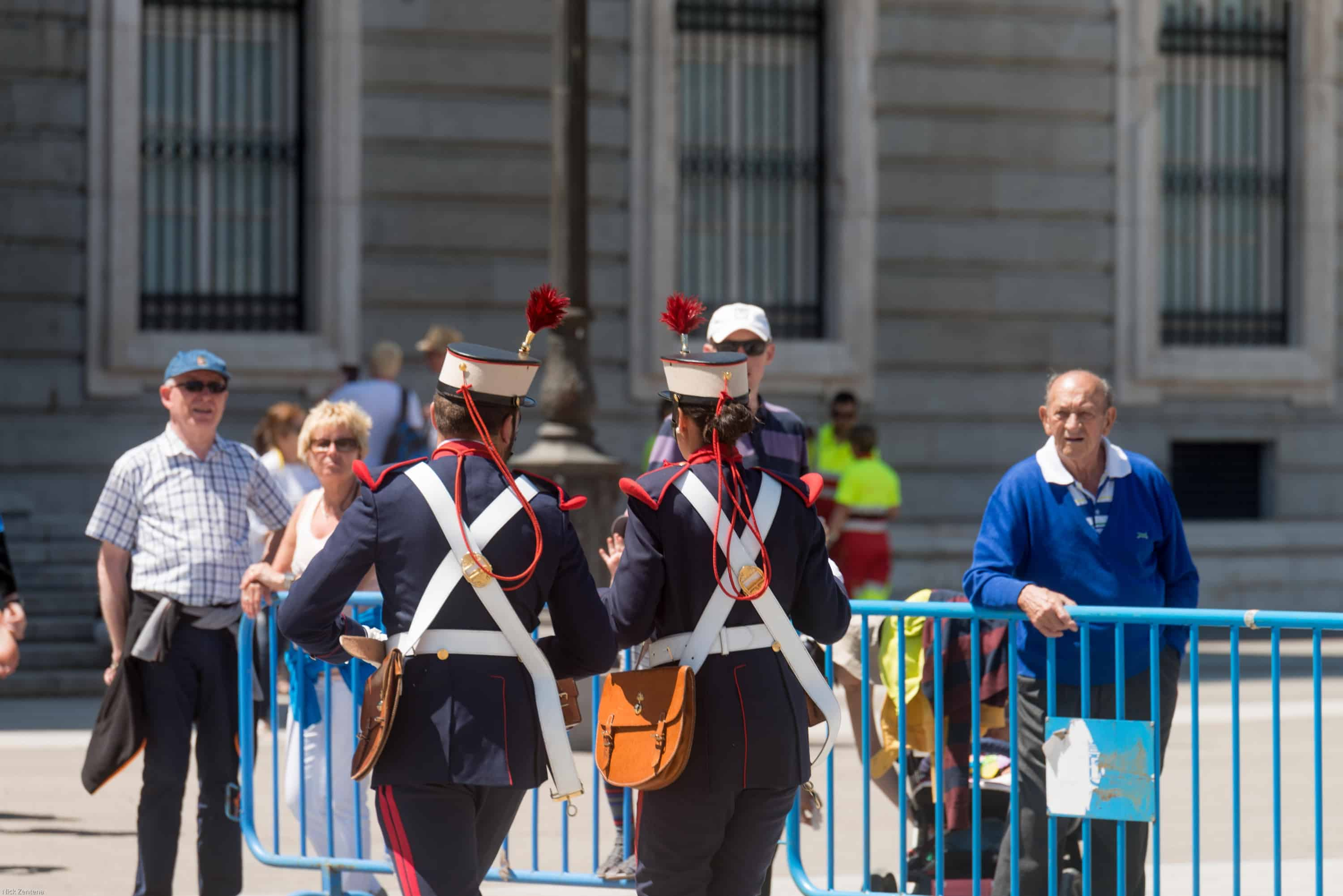 Changing of the Royal guard Madrid