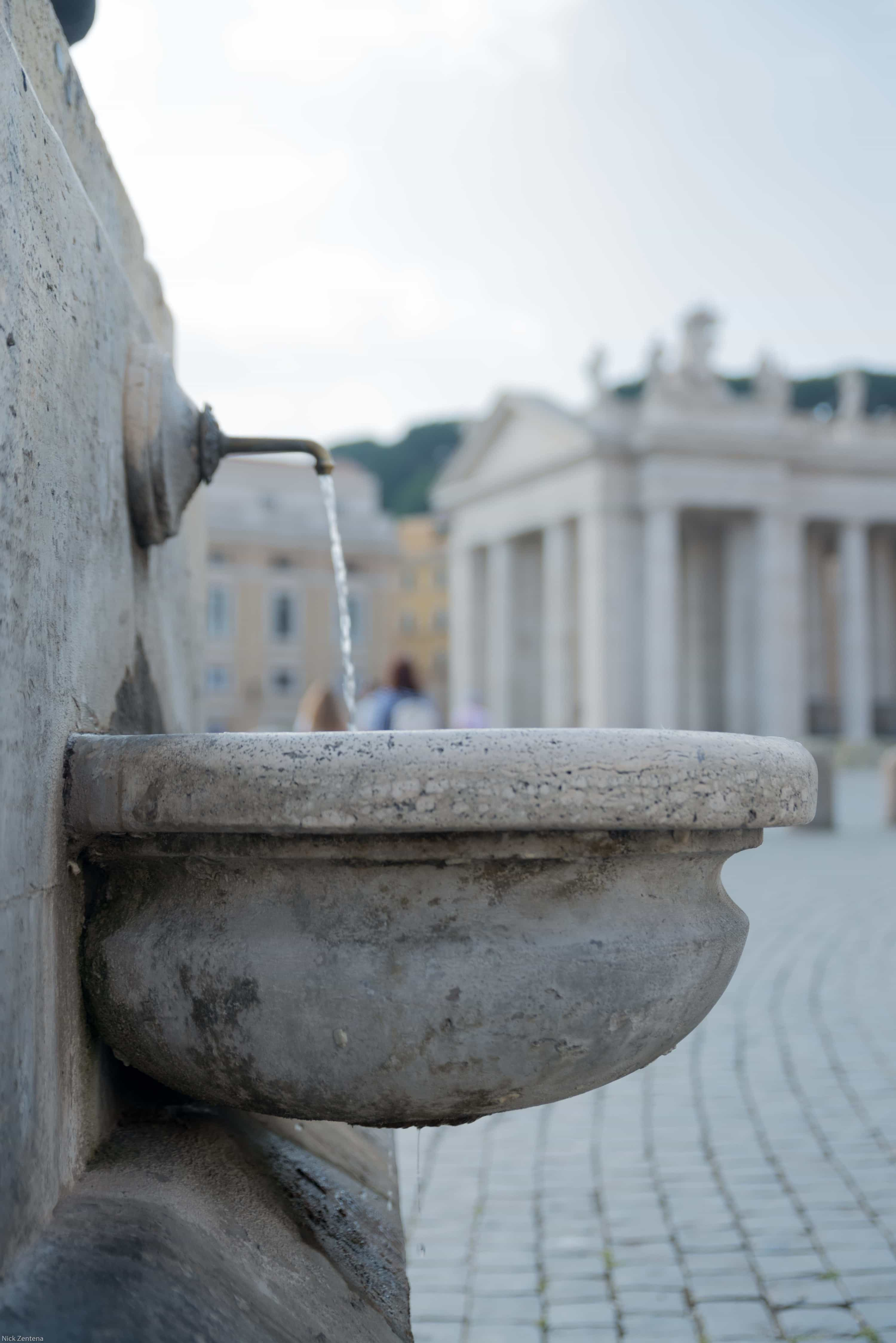 Drinking fountain in St. Peter's square