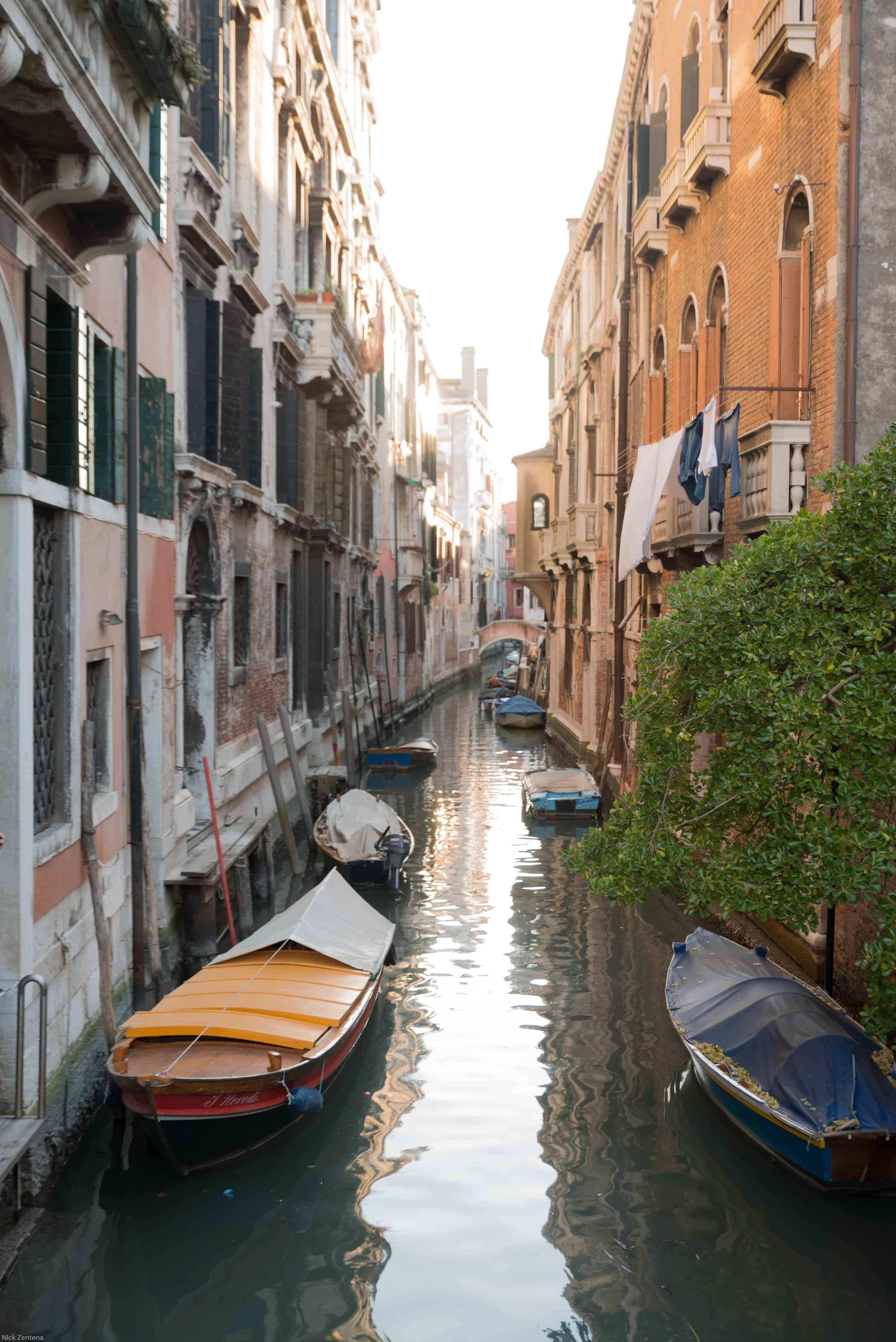 Italy in photographs Venetian canal during acqua bassa